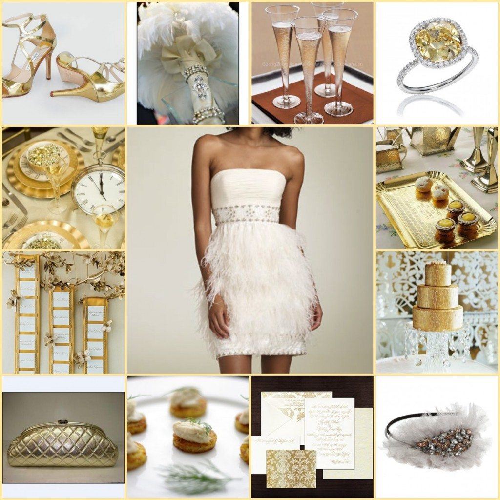 Glitz and Glamour New Years Eve Wedding Inspiration Board