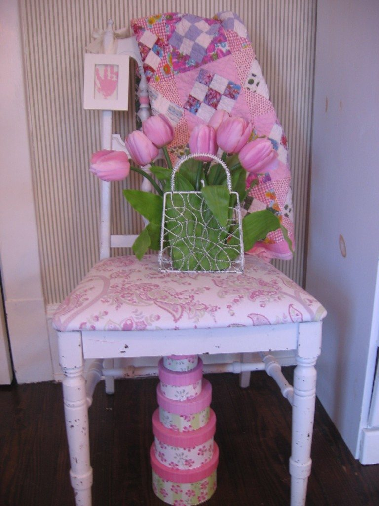 Old Dining Room Chair--Redone