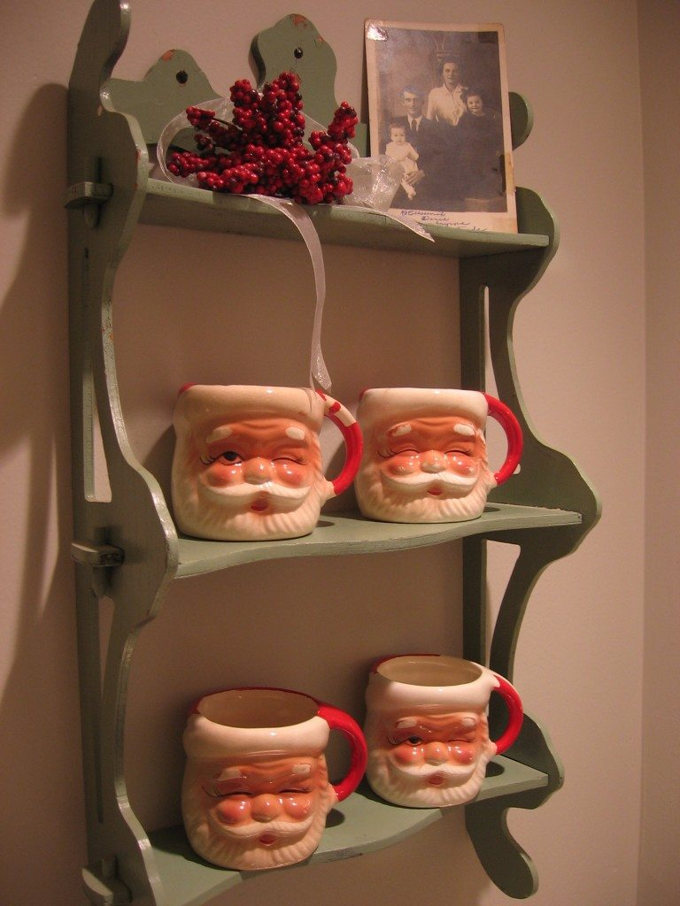 My grandmother's Santa mugs