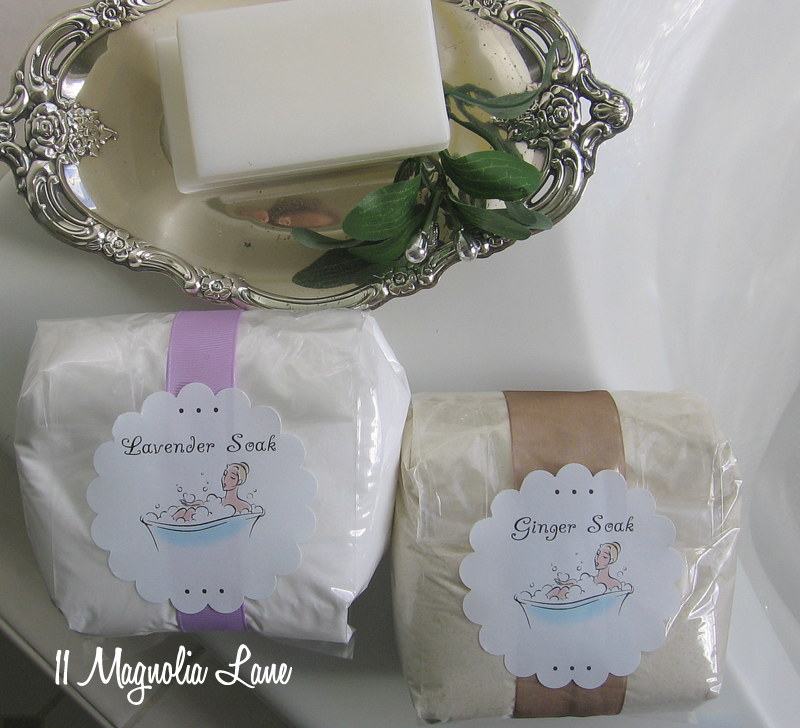 Lavender and ginger bath salts/soak recipe