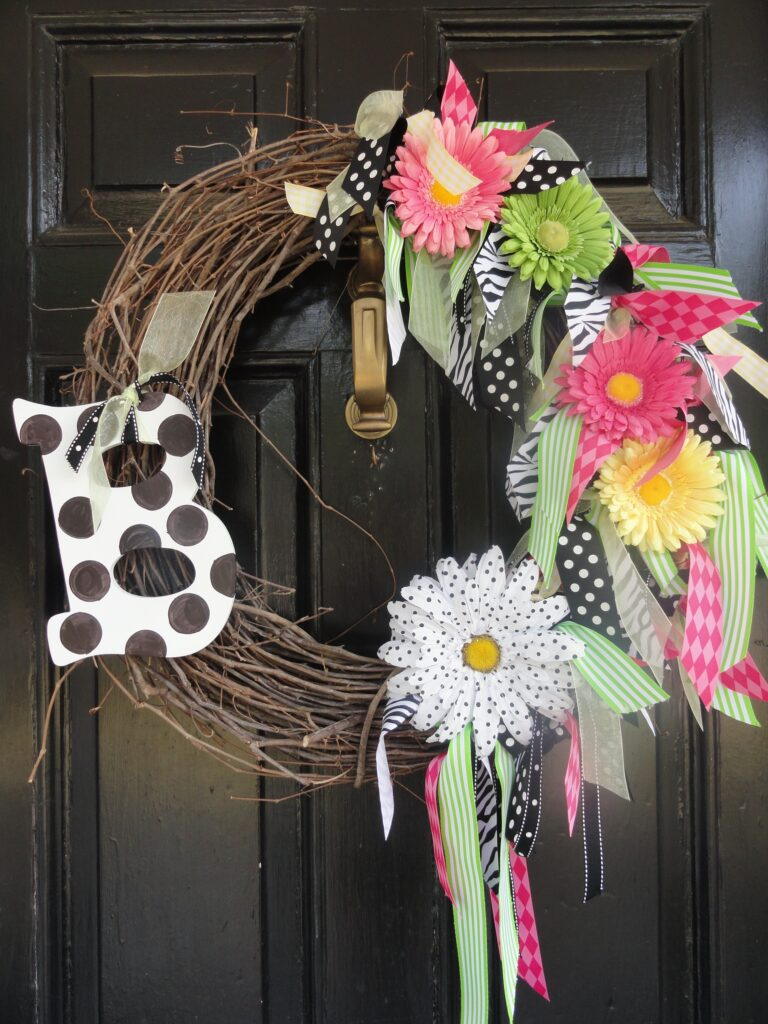 Bright and Fun (and Incredibly Easy) Springtime Wreath