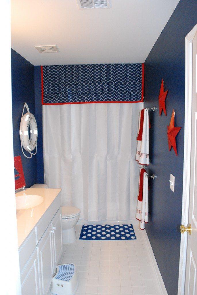 Boys Bathroom With A Nautical Theme 11 Magnolia Lane