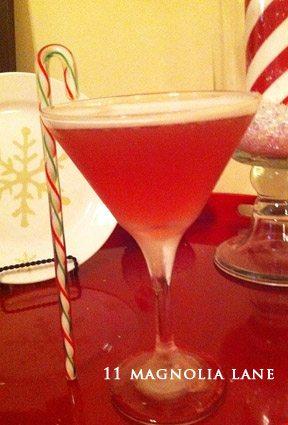 raspberry martini christmas martini