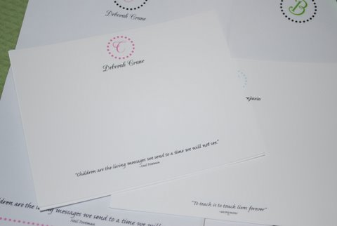 Personalized Stationery with a Name & (Optional) Quote at the bottom