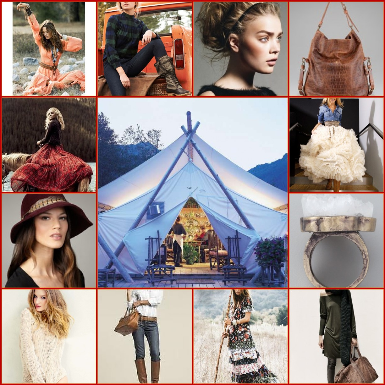 Fall fashion perfect for a glamourous camping weekend!