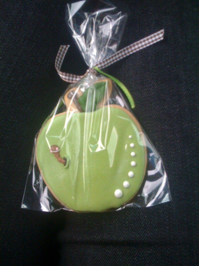 Detail shot of the cookie favors