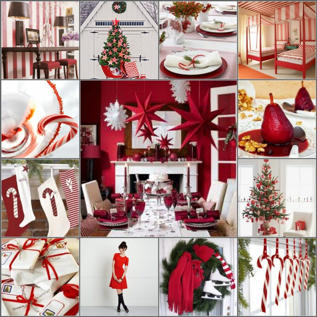 Peppermint Christmas inspiration board