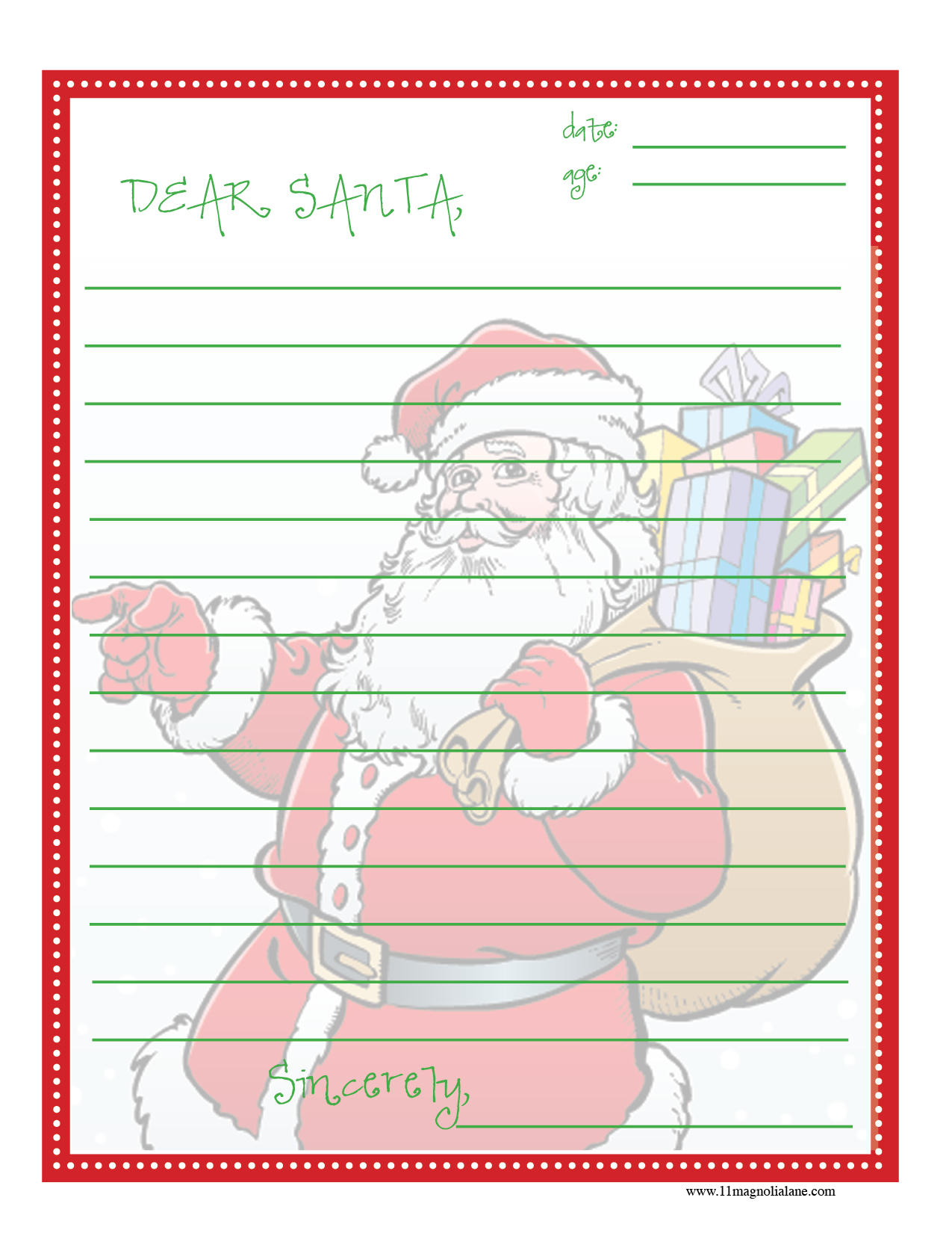 Cute Christmas Wish List Template Free Printable Their christmas lists ...