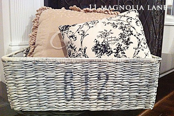 French Numbered DIY Basket