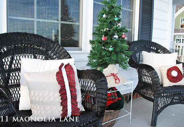 Christmas porch decor