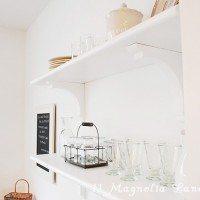 Kitchen Progress {Open Shelving}