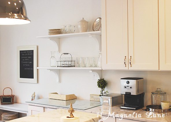 DIY open shelving kitchen