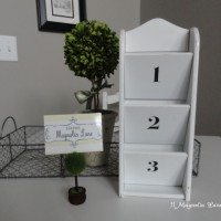 DIY bill letter organizer