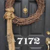 Burlap & Lime Green–My Winter to Spring Front Porch