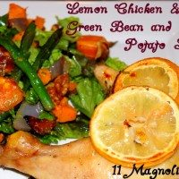 Roasted Lemon Chicken and Green Bean Salad