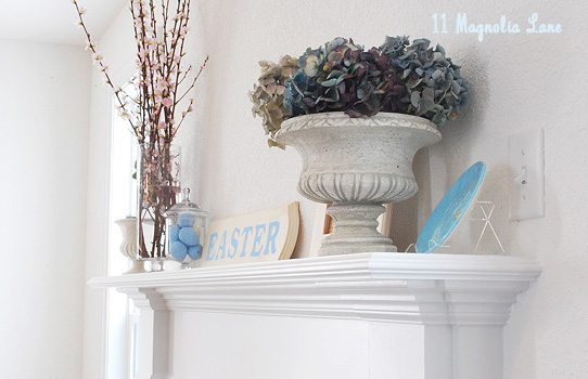 Easter mantel decor