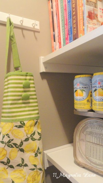 Monogrammed Burlap Tote Bag Giveaway Winner AND Sneak Peak at My Pantry Reveal