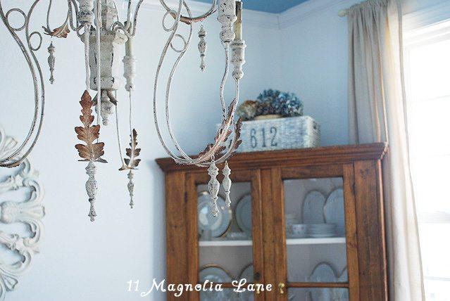 italian wood chandelier dining room