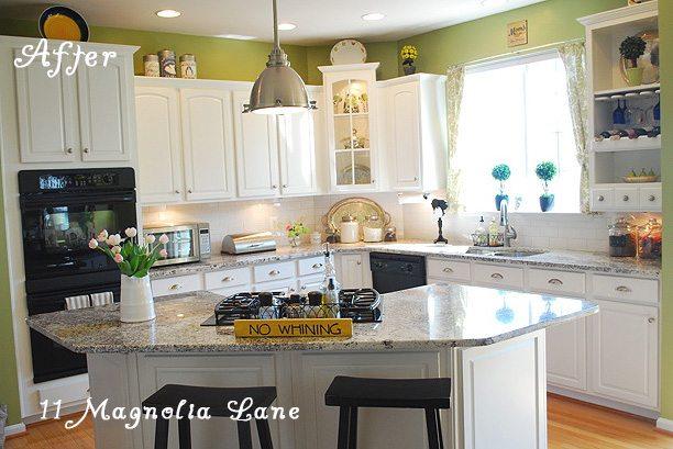 White kitchen redo at 11 Magnolia Lane