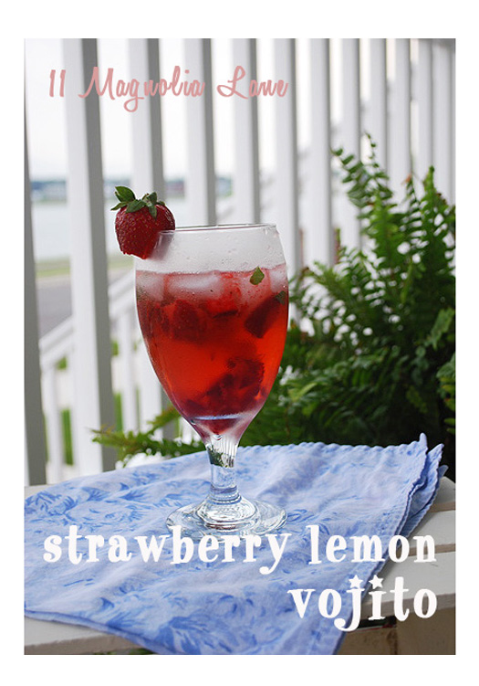 Summer Strawberry Lemon Vojito