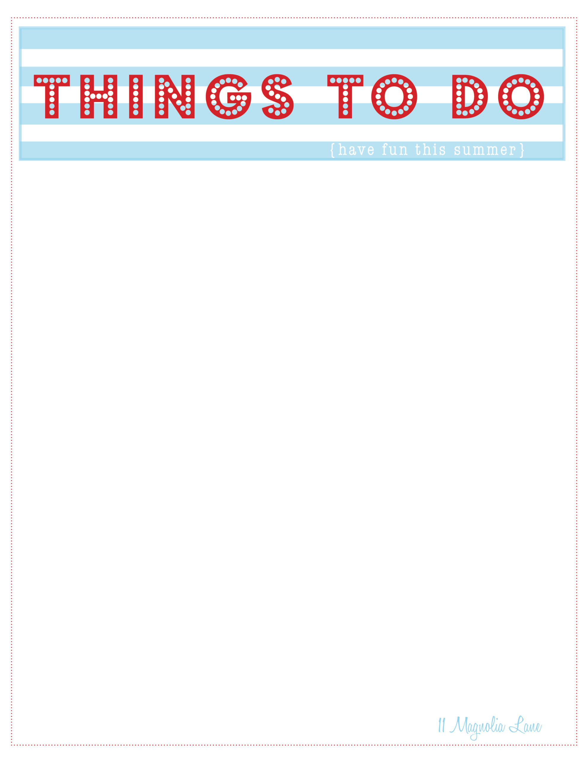 things to do templates – Things to Do Checklist Template