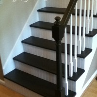 Stair Redo with Painted Treads and Beadboard Risers