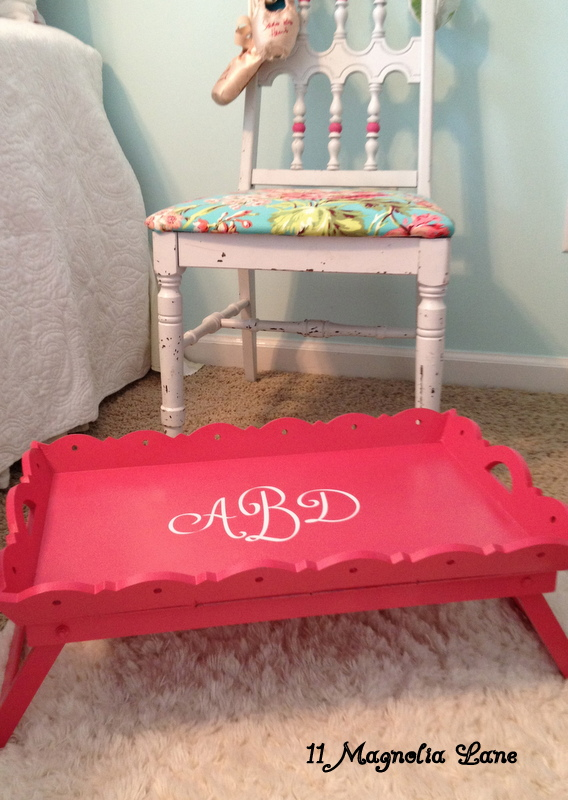 ~Thrift Store Tray Gets a Bright Makeover~