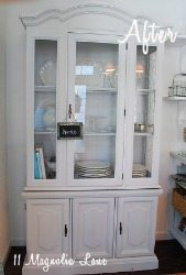Kitchen Hutch Makeover {Craig's List Find}