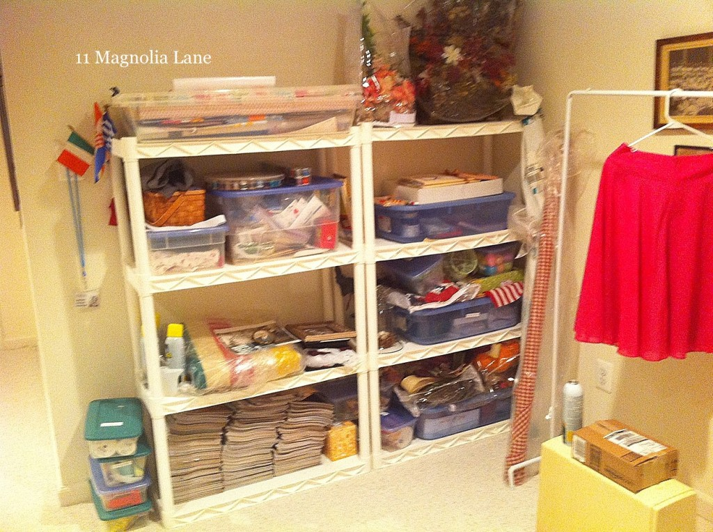 I should disclaim that the rest of my parents home is perfectly clean   organized and decorated  This is the basement space in the home where  things that. A basement sewing craft room makeover in process   11 Magnolia Lane