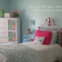 Hot Pink, Aqua Blue, & Light Green (Oh, My!) –My Daughter's Room Reveal