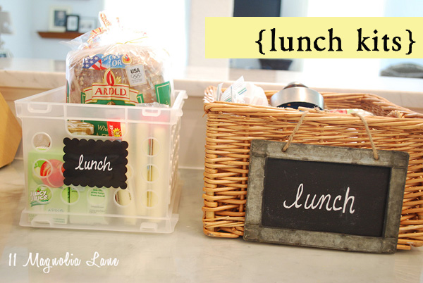 Organizing Life {one step at a time} LUNCH KITS