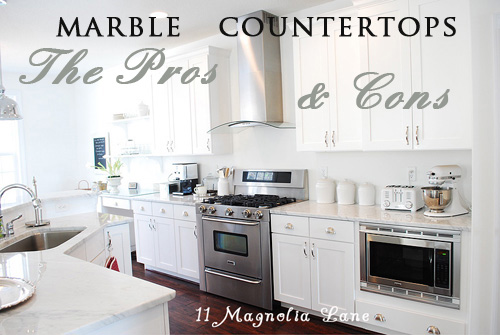 The pros and cons of marble countertops in the kitchen