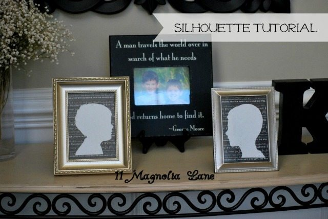 DIY silhouette tutorial