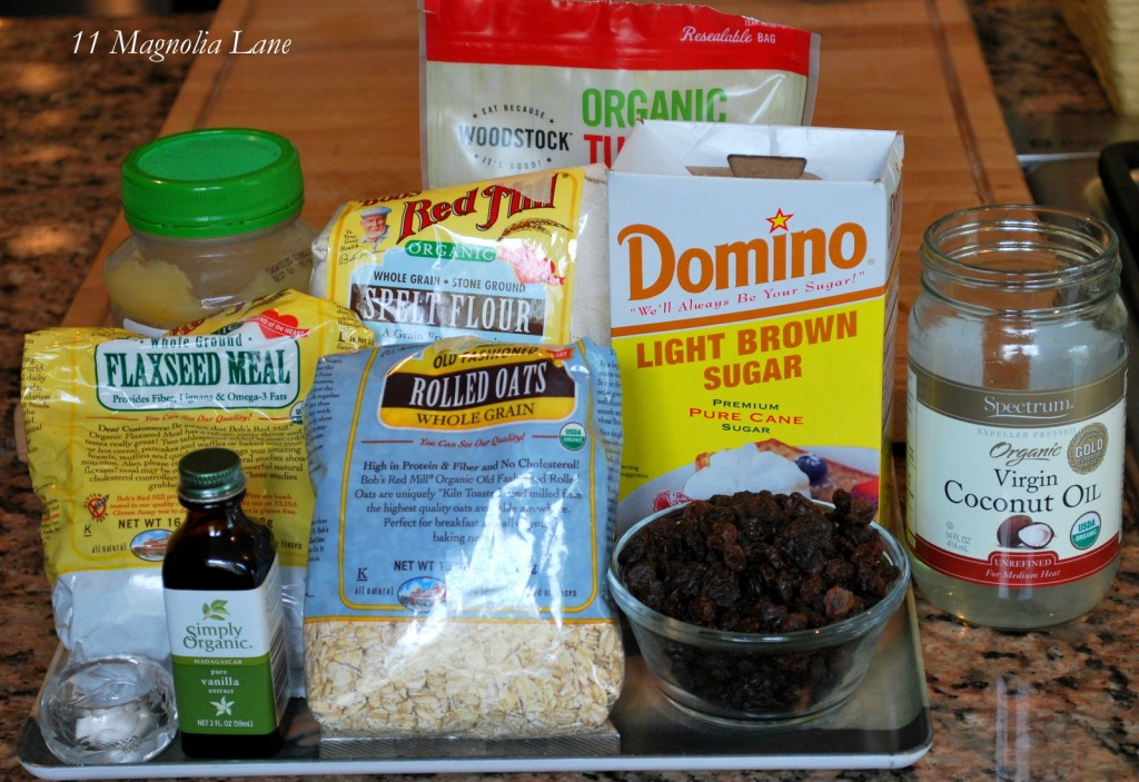 Vegan Oatmeal Flax Spelt Cookies