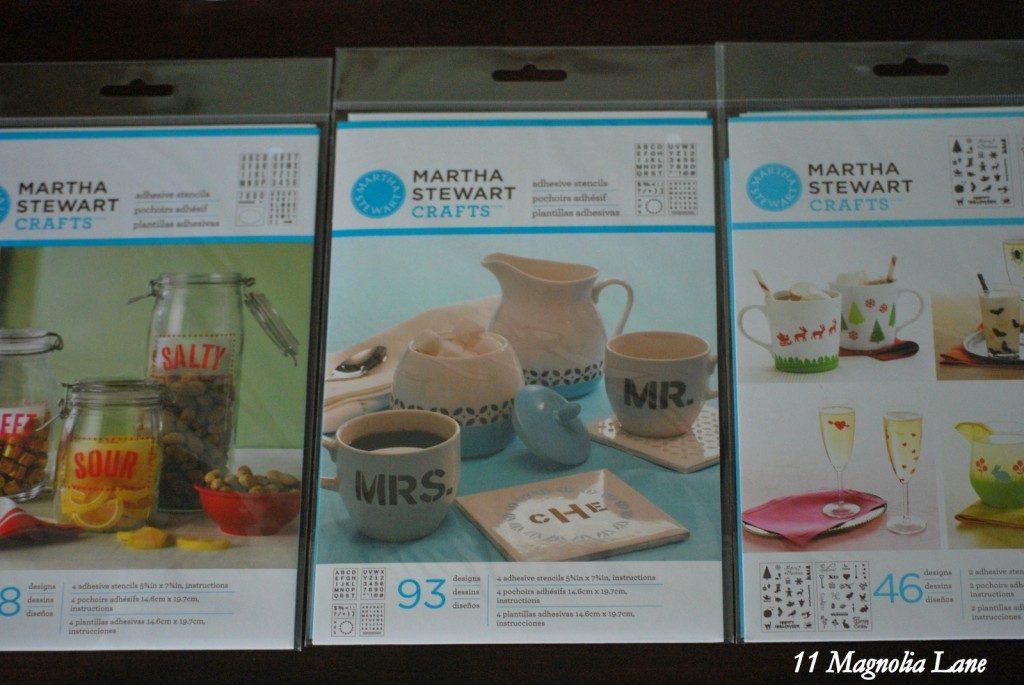 Sticker Stencils by Martha Stewart Crafts makes stenciling EASY!!