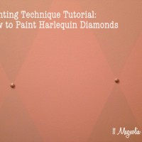 Harlequin diamond paint tutorial