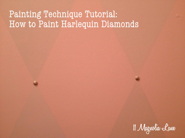 Paint Technique Tutorial: How to Paint Harlequin Diamonds–Closet Redo Part 3