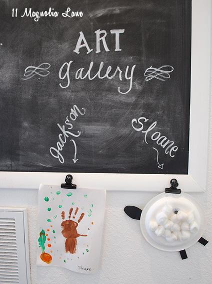 art gallery chalkboard