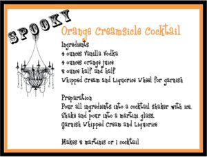 Orange Creamsicle Cocktail Recipe for Halloween