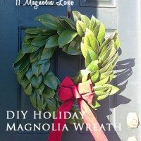 diy magnolia wreath marked