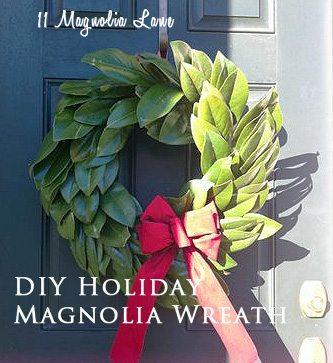 Easy DIY Magnolia Wreath for the Holidays