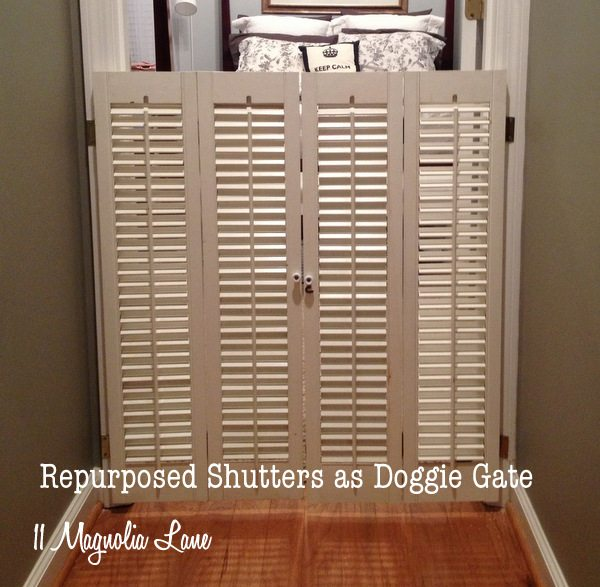 Plantation Shutter Dog Gate