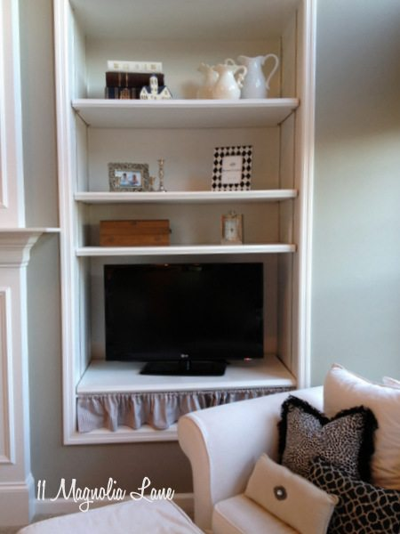 Built ins in living room