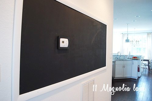 How to DIY build a giant huge chalkboard on a wall in your home.