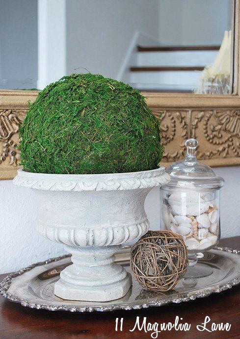 DIY moss sphere ball tutorial