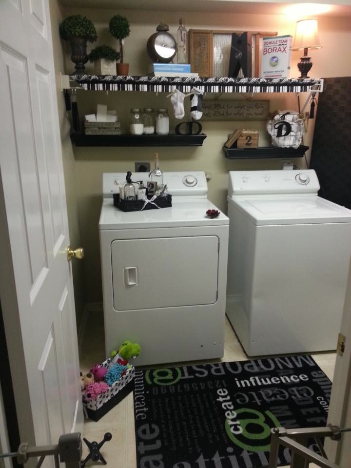 Room Redo Ideas black and white laundry room redo at 11 magnolia lane | 11