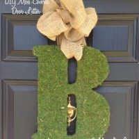 Moss covered letter for front door