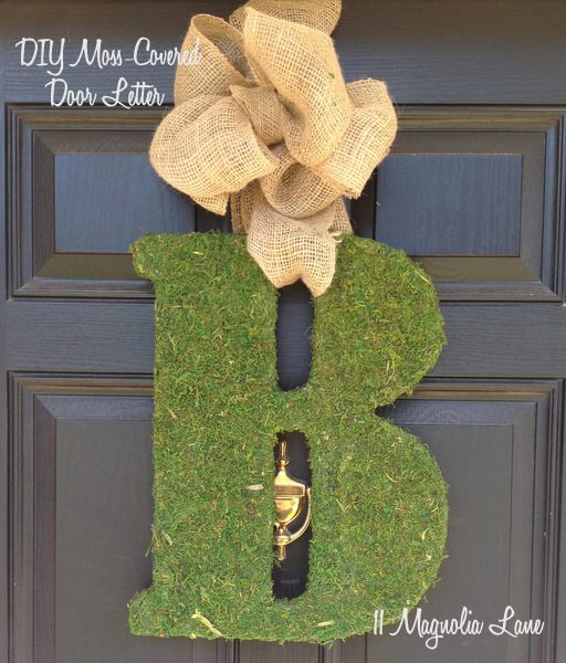 Moss Covered Letters: DIY Moss Covered Letter Tutorial