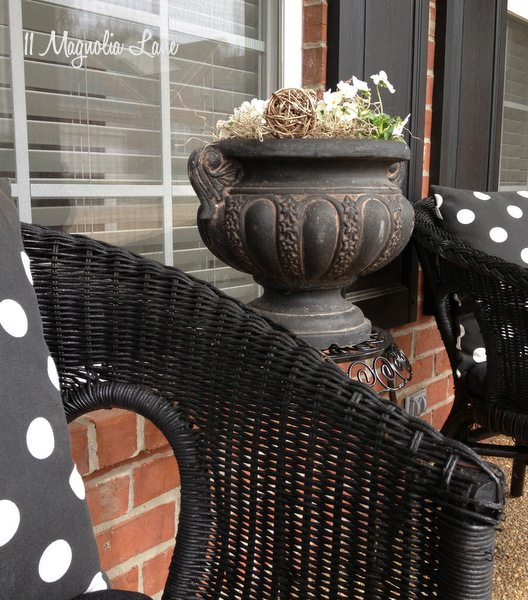 Front porch at 11 Magnolia Lane