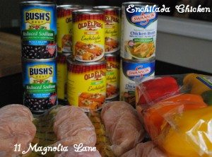 Enchilada Chicken Ingrediants